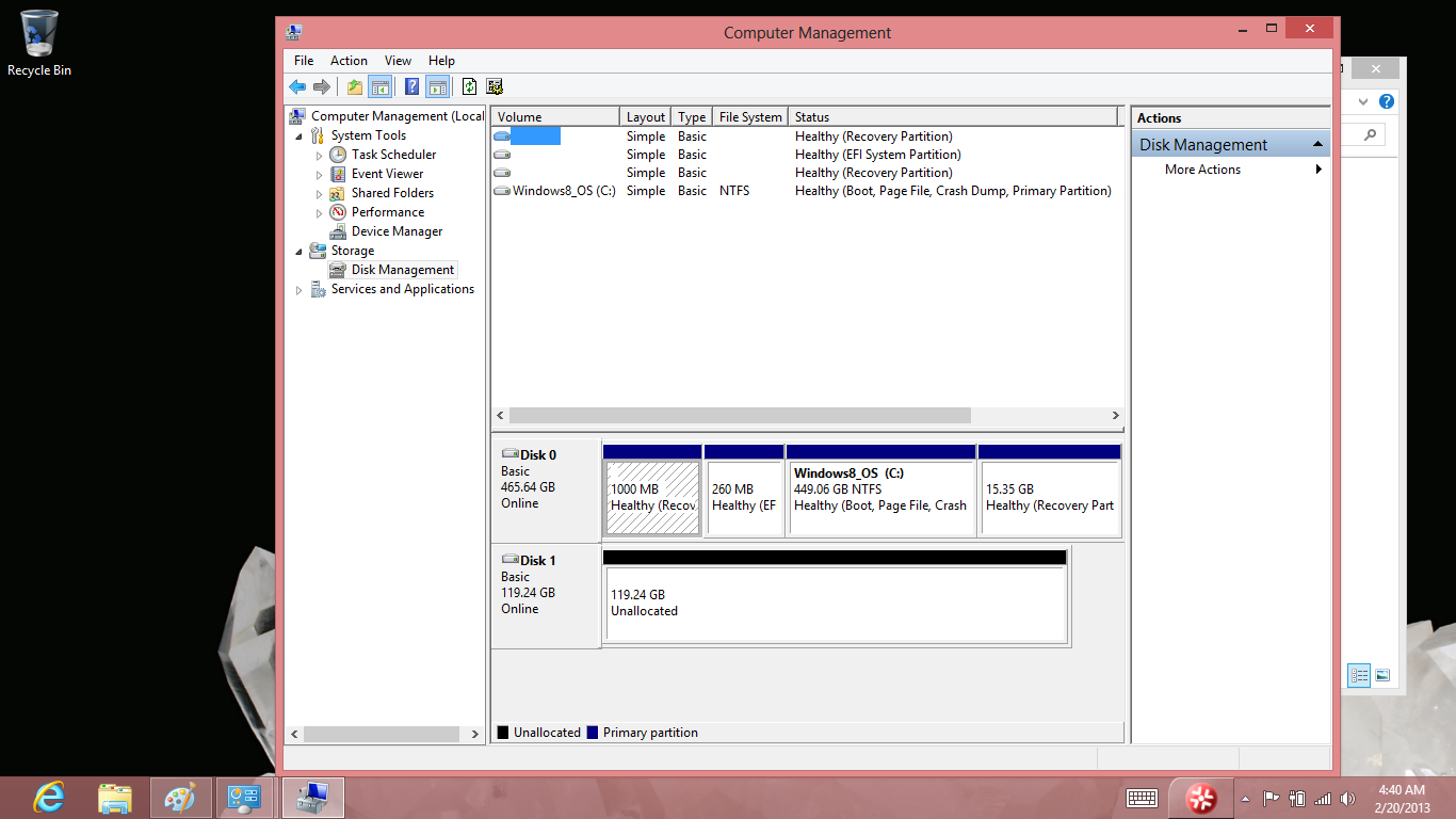 How-to: Clone factory installed Windows 8 to a new empty SSD