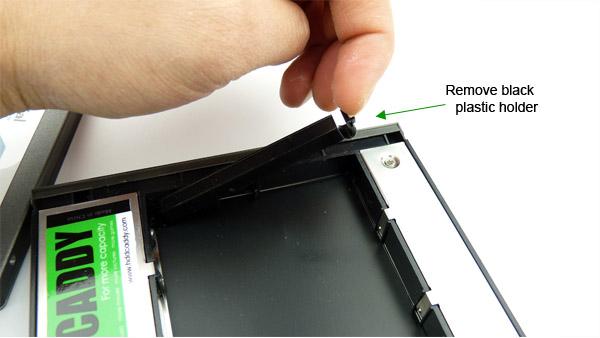 Install HDD or SSD in HDD Caddy for HP Elitebook 8560w 8570w