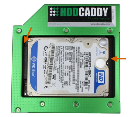 HDD Caddy install