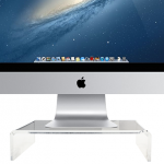 Clear stand / riser for Apple's iMac from STEYG