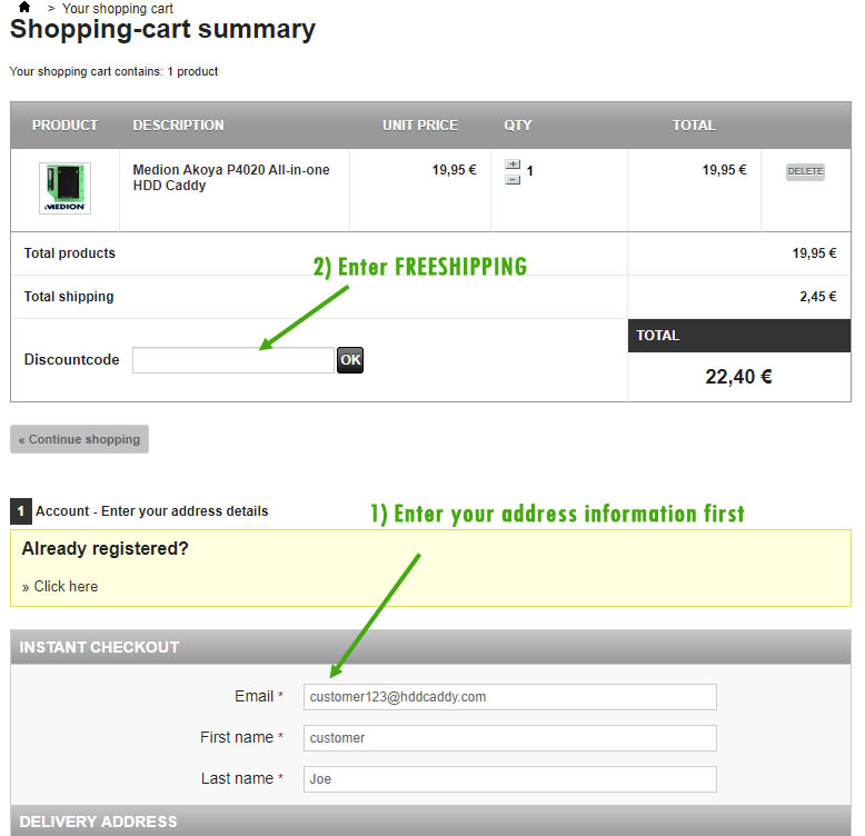 free shipping hddcaddy